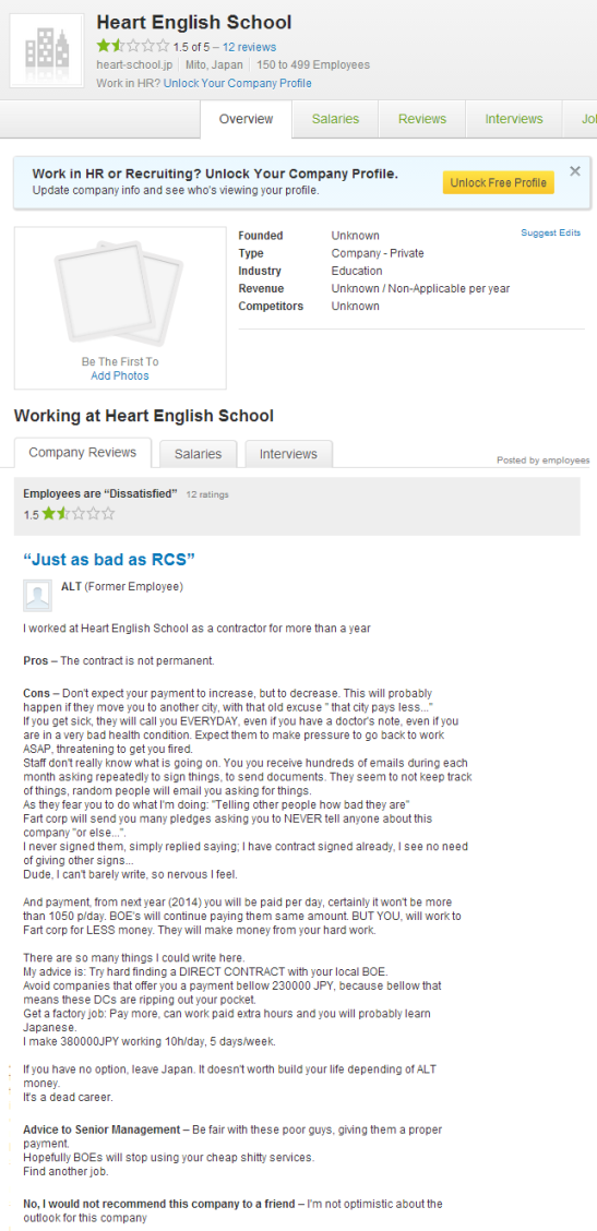 Economic exploitation, Bad management : Heart Corporation / Heart English School