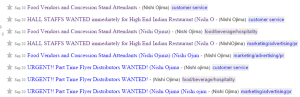 Perpetually looking for new employees : HALL STAFFS WANTED immediately for High End Indian Restaurant (Nishi Ojima)