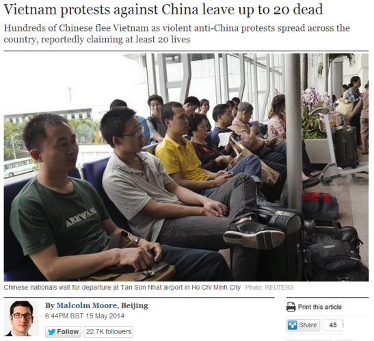 Anti-China Sentiments in Vietnam