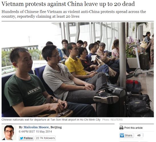 Anti-China Sentiments in Vietnam