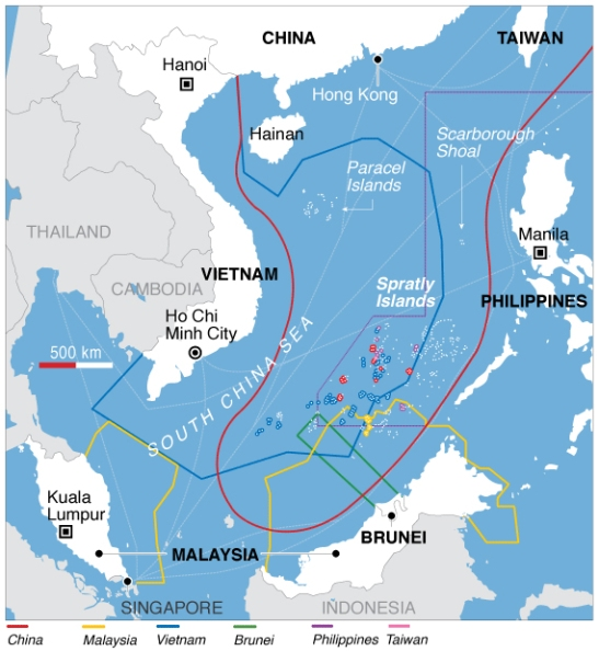 Challenging Beijing in the South China Sea