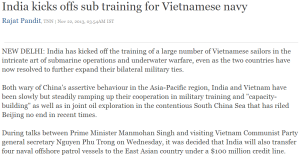 India kicks offs sub training for Vietnamese navy