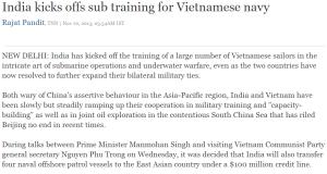 India kicks offs sub training for Vietnamese navy