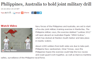 Philippines, Australia to hold joint military drill