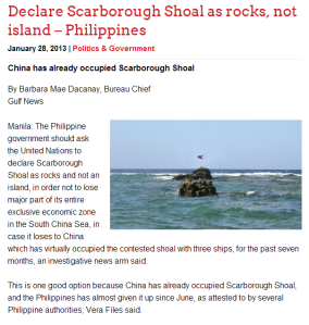 Declare Scarborough Shoal as rocks, not island – Philippines