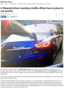 Falling into the trap of dichotomies : A Maserati driver mauling a traffic officer has no place in our society
