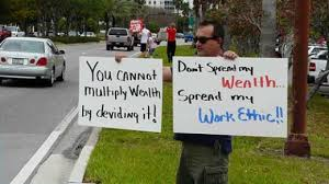 What does it meant to be fair?Don't spread my wealth. Spread my work ethic.