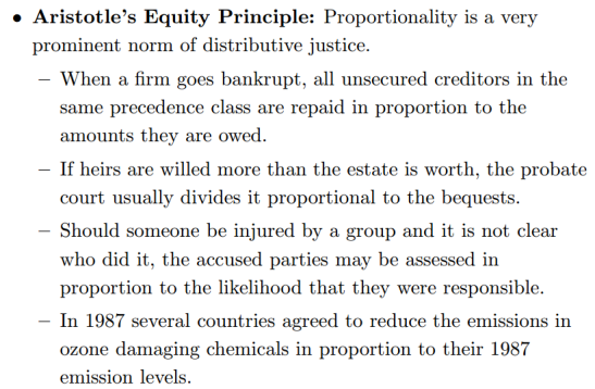 What does it meant to be fair? Aristotle's Equaliity Principle