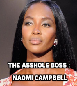 Assholes : A theory by Aaron James . Naomi Campbell