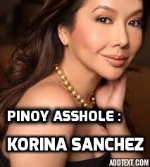 Assholes : A theory by Aaron James. Pinoy Asshole : Korina Sanchez.