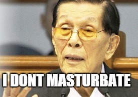 Elections 2016 : Things to remember. Juan Ponce Enrile doesn't masturbate because it's mass murder.
